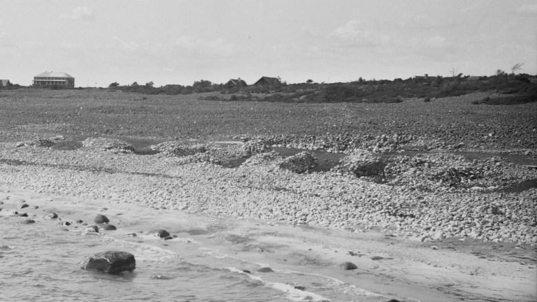 SPORNES: Dette bildet av Spornes viser langt mindre vegetasjon enn det området har i dag. Foto: Nasjonalbiblioteket