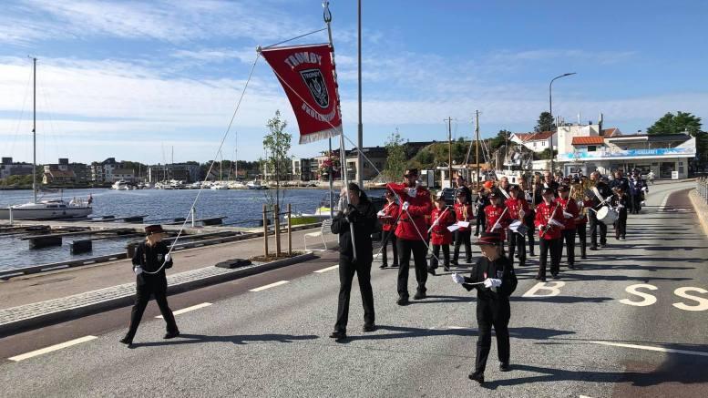 MANDALSTUR: I helgen deltok Tromøy skolemusikkorps på Mandal Korpsfestival. Foto: Tromøy skolemusikkorps