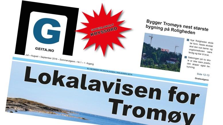 SOMMERUTGAVE: Lokalavisen Geita er gitt ut som papirutgave sommeren 2018.