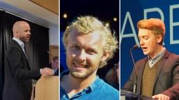 KANDIDATER: Dette kan bli Tromøys tre menn for Høyre på fylkestinget etter valget neste år. Foto: Esben Holm Eskelund/Høyre/Montasje