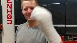 HÅNDBALL: Christian Stølefjells innsats mot ØIF Arendal endte på legevakta. Foto: Trauma Håndball