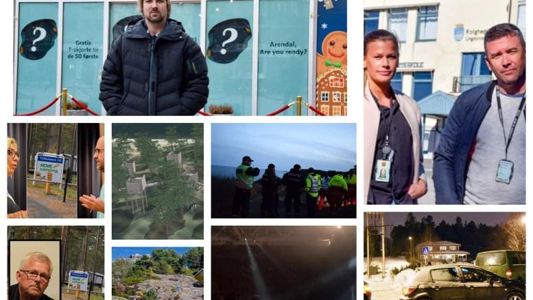 TOPPSAKENE: Lokalavisen Geita legger bak seg sitt første nyhetsår på Tromøy med mange godt leste artikler og nyhetssaker. Fotomontasje