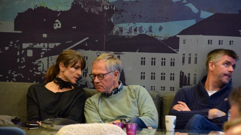 TILHØRERE: Styreleder Ingunn Kilen Thomassen i HDU, investor Steinar Haugerud og Espen Bierud marked- og kommunikasjonssjef i Canvas Hove var tilstede under kommuneplanutvalgets møte. Foto: Esben Holm Eskelund
