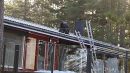 CANVAS HOVE: Oppgradering av kafébygningen på Hove Camping i regi av Canvas Hove er kommet i gang, men i mindre skala enn opprinnelig tenkt. Foto: Esben Holm Eskelund