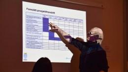 HOVE-REGULERING: Kommunalsjef Geir Skjæveland la frem et utkast til fremdriftsplan for regulering av Hove camping. Foto: Esben Holm Eskelund