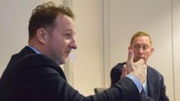 ADVOKATVURDERING: Kristoffer Wibe Koch fra Arendalsadvokatene ble hyret inn av rådmannen for en ekstern vurdering av reglene for folkevalgte i bystyret i sammenheng med generalforsamlingen i Hove drifts- og utviklingsselskap AS. Foto: Esben Holm Eskelund