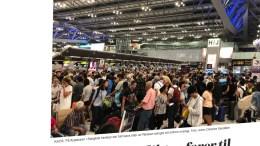 FLYFAST: Tromøy-familien kan risikere å bli sittende på vent i elleve dager før de kan få plass på et fly ut av Thailand, på grunn av en konflikt mellom atommaktene Pakistan og India. Faksimile: VG.no