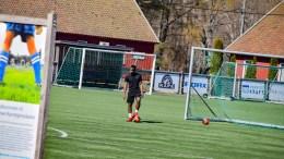PÅSKETRENING: Påskeferie betyr ikke treningsfri for Traumas spillere i fotballens femtedivisjon. Foto: Esben Holm Eskelund