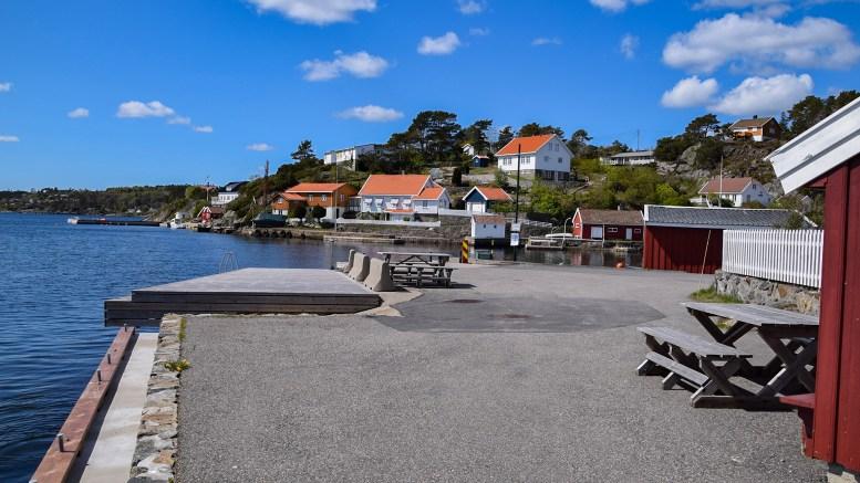 GJERULDSNABB: For folk flest er stedet kjent som Pellebrygga. Foto: Esben Holm Eskelund