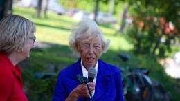 SATTE SPOR: Tromøy-kvinnen Signe Marie Stray Ryssdal døde i helgen, nær 95 år gammel. Arkivfoto
