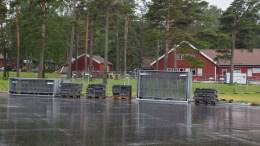HOVE MUSIC FESTIVAL: Riggingen av den nye festivalen var kommet godt i gang. Frps Anders Kylland er glad for at kommunalt tilskudd ikke er betalt ut. Foto: Esben Holm Eskelund