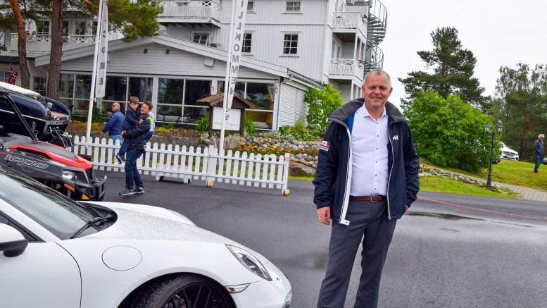POWER BOAT WEEKEND: Oddgeir Frette ved Arendal Herregaard var godt fornøyd med den første utgaven av messen på hotellområdet. Foto: Esben Holm Eskelund