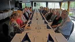 FRIVILLIGFEST: Nylig arrangerte Tromøy helselag frivilligfest med middag på Arendal Herregaard. Foto: Tromøy helselag