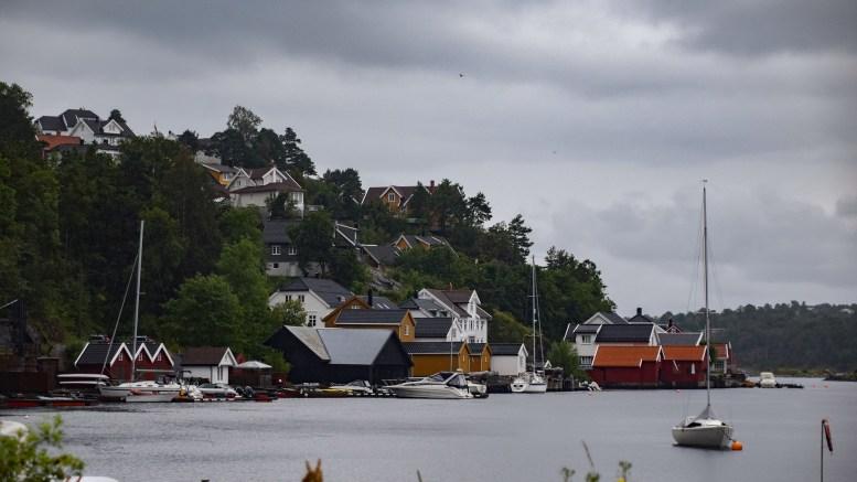 TIMBER: Tidligere strandområde i Fjellvik. Foto: Esben Holm Eskelund