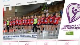 HÅNDBALL-EM: Fanny Skindlo fra Trauma deltar i ungdoms-EM i håndball i Slovenia. Faksimile: Norges Håndballforbund