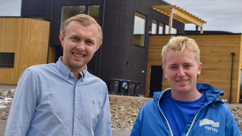 BYSTYREPLASSER: Både Erik Johan Tellefsen Lindøe og Haagen Poppe (t.h.) har fått plass i bystyret i Arendal for Høyre. Foto: Esben Holm Eskelund