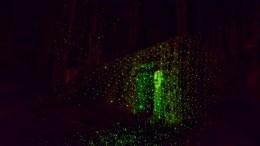 SKREMMENDE KLATRING: Troll Park Hove var forvandlet til et skrekkabinett på Halloween. Foto: Esben Holm Eskelund