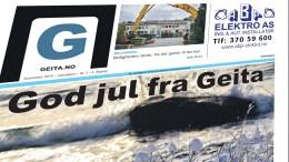 JULEUTGAVE: Lokalavisen Geita kommer i papirutgave også i desember i år.