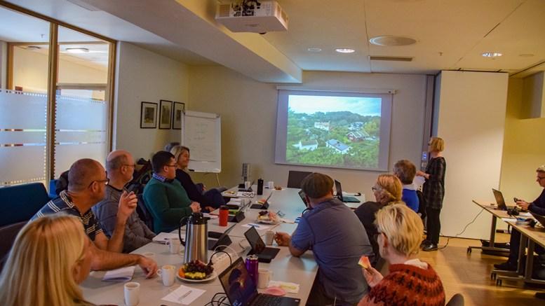 SOLCELLEPOLITIKK: Kommuneplanutvalget fikk orientering av kommunearkitekt Nora Moberg Lillegaard om solcellepaneler i bevaringsområder. Nå skal et eget energiutvalg se nærmere på spørsmål rundt solcellepraksis. Foto: Esben Holm Eskelund