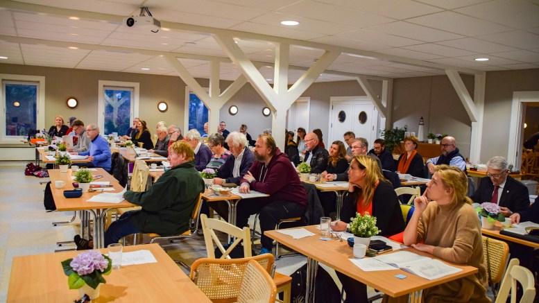ARENDAL AP: I helgen holdt partiet årsmøte i Hovestua i Hove leirsenter. Foto: Esben Holm Eskelund