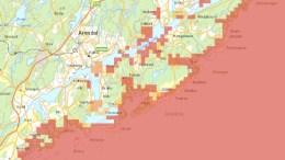BEREDSKAPSKART: Hvis uhellet er ute skal nytt kartverktøy hjelpe til for å ta riktige avgjørelser. Kart: Kystverket/Skjermbilde