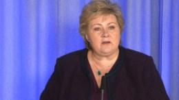 FORTSETTER TILTAK: Statsminister Erna Solberg opplyste at tiltakene mot koronasmitte forlenges til 13. april. Foto: skjermbilde regjeringen.no