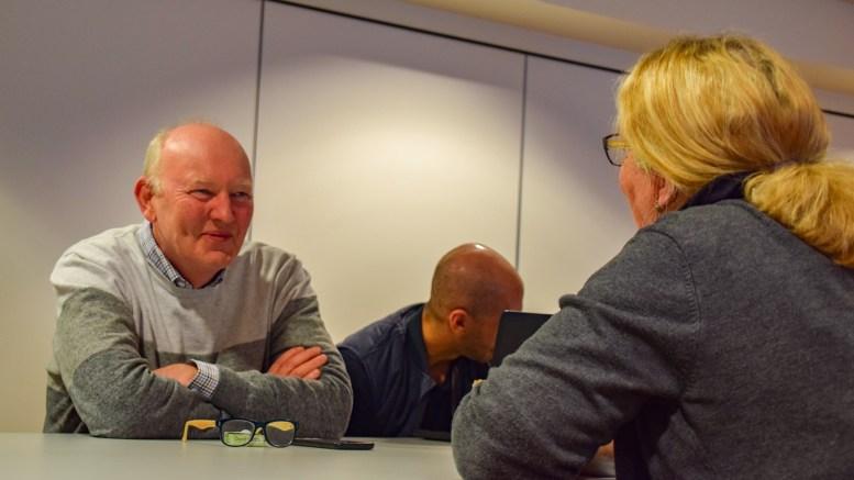 LANDSKAPSVERNET: Terje Stalleland, daglig leder i HDU og styremedlem i Canvas Hove AS, var på plass da kommuneplanutvalget sist uke stemte for å velge LNF som formål for regulering av campingområdet på Hoveodden. Foto: Esben Holm Eskelund
