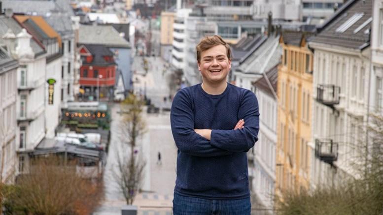 STUDENTLEDER: Andreas Trohjell (23) er valgt til å lede landets studenter i Norsk studentorganisasjon (NSO). Foto Henriette Frøysland Thorkildsen