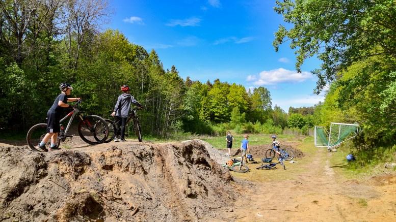 LANGHAVEN: Området brukes i dag som sykkelpark anlagt av idrettsforeningen Trauma. Foto: Esben Holm Eskelund