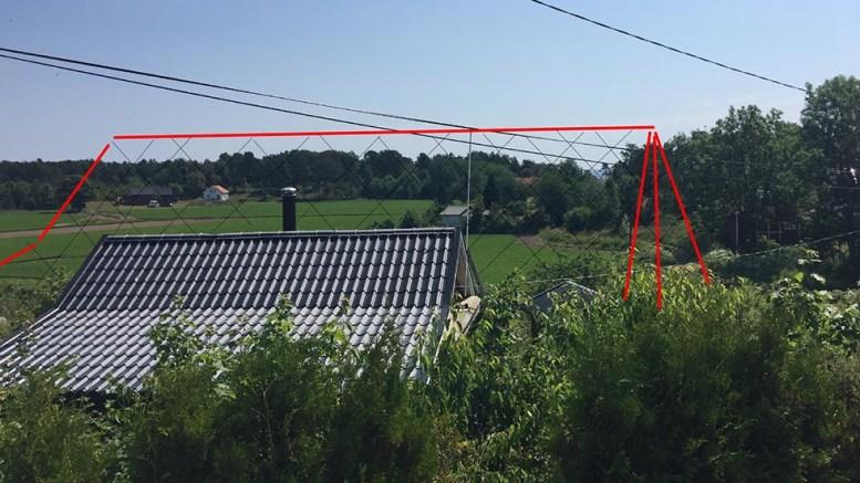 HYTTEPROTEST: Naboer på Gjervoll er redd for å miste utsikten om den nye hytta blir godkjent. Ansvarlig søker svarer med at utsikt verken er en rettighet eller eiendel. Illustrasjonen er laget av av klagerne i saken.