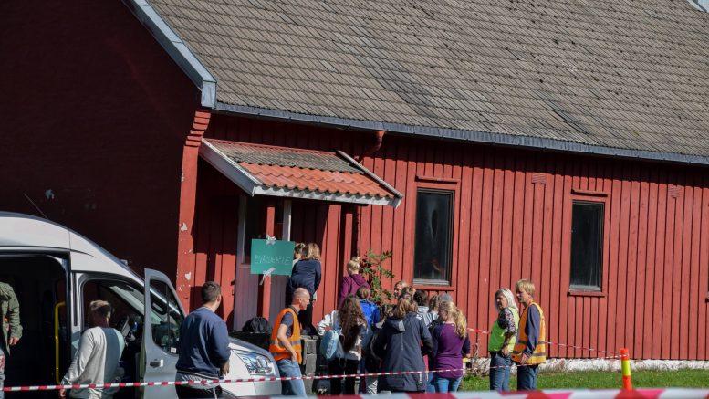 ISOLASJONSPOST: I 2018 ble det øvd på katastrofe i Arendal. Da ble Hove-leiren tatt i bruk som evakuerings- og pårørendesenter. I en utbruddssituasjon av korona kan leiren bli isolasjonspost og karantenested. Arkivfoto