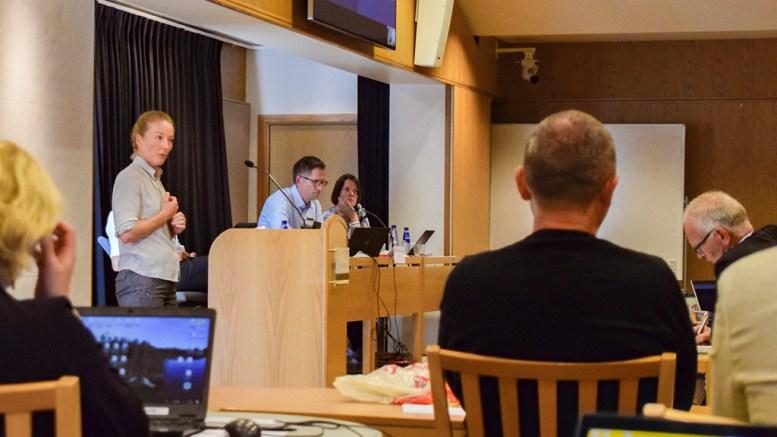 KREVER MER: Bystyrerepresentant Kristina Stenlund Larsen (uavh.) er lite fornøyd med det HDU-styrelederen har offentliggjort av møteprotokoller i Hove-saken. Foto: Esben Holm Eskelund