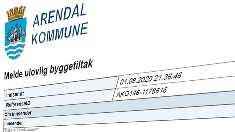 ULOVLIGHETER: En tipser har gitt Arendal kommune opplysninger om mulige ulovlige forhold. Grunneier varsler forslag om mulig reguleringsendring for å få slutt på anonyme «tips». Illustrasjonsfoto