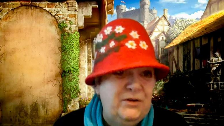 FYLKESBLOMST: Til tross for at Ingebjørg Godskesen (Pp) tok på seg ambassadørhatten for sitt førstevalg, ble det ikke hennes favoritt, som ble Agder fylkeskommunes offisielle blomst. Foto: skjermbilde Teams / Agder FK