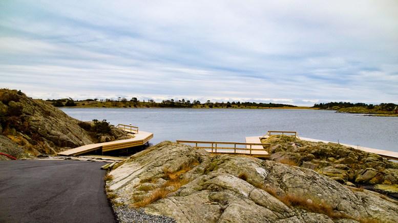 KRØGLEVIK: Området ligger øst for Skarestrand og i le av Tromlingene. Foto: Esben Holm Eskelund