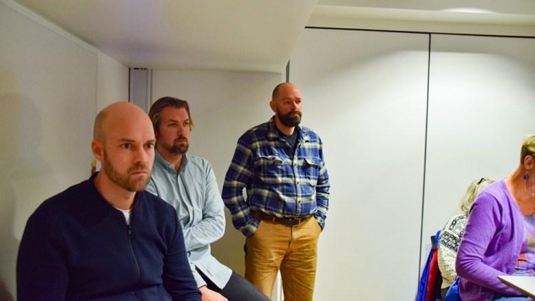 CANVAS ARENDAL: Canvas Hoves styreleder Vebjørn Haugerud (t.v.), daglig leder Marius Amundsen (midten) og Canvas-gründer Jan Fasting fotografert i forbindelse med Canvas Hove i fjor vår. Arkivfoto