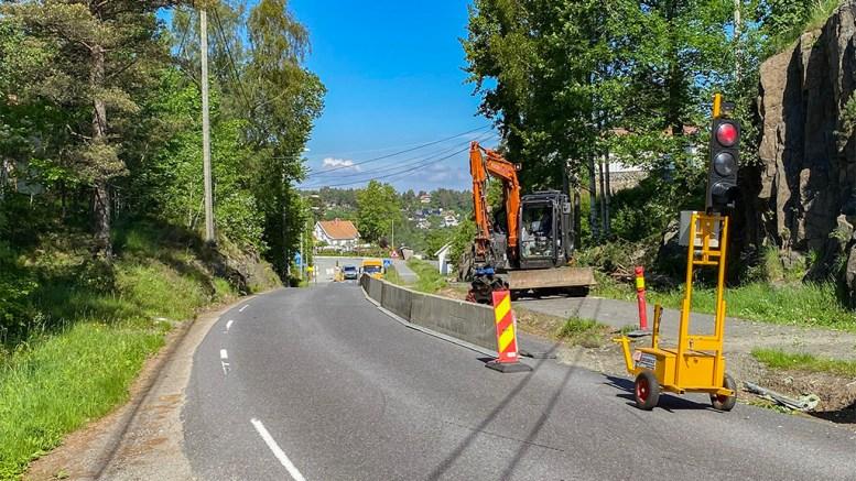 TRAFIKKSIKKERHET: Gang- og sykkelveien, som er skolevei for mange barn, får nå en etterlengtet oppgradering. Foto: Esben Holm Eskelund