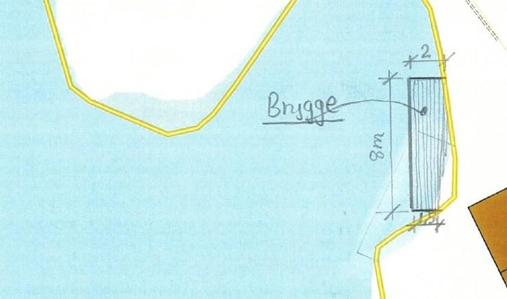 SIER NEI: Raet nasjonalpark godkjenner ikke søknaden om ny brygge i Flangeborgkilen. Illustrasjon: Pollen Bygg og eiendom.