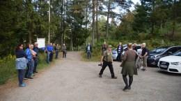 LOKAL FRILUFTSTUR: Mange møtte opp på Kjenna for å bli med på tur til Eggevidden, som ble til Storvidden. Foto: Esben Holm Eskelund