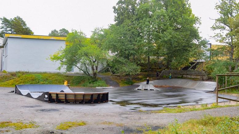 SANDNES NÆRMILJØANLEGG: Skate- og rulleparken ved Sandnes skole og Sandnes stadion skal åpnes storslått i helgen. Foto: Esben Holm Eskelund
