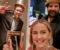"""VANT GULLRUTEN: Tromøy-mannen Kjetil Johnsen (t.v.) kunne feire Gullruten sammen med programlederne i suksessen """"Bak Fasaden"""", Janne Amble og Kadafi Zaman. Foto: Privat"""