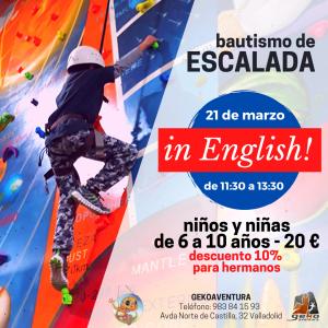 Gekoaventura taller de escalada en inglés Valladolid