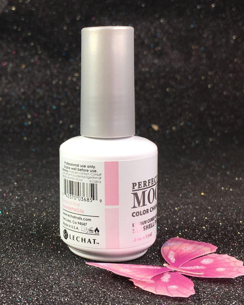 LeChat Seashell Pink Perfect Match Mood Color Changing Gel Polish MPMG56 I GELNAILSCOM