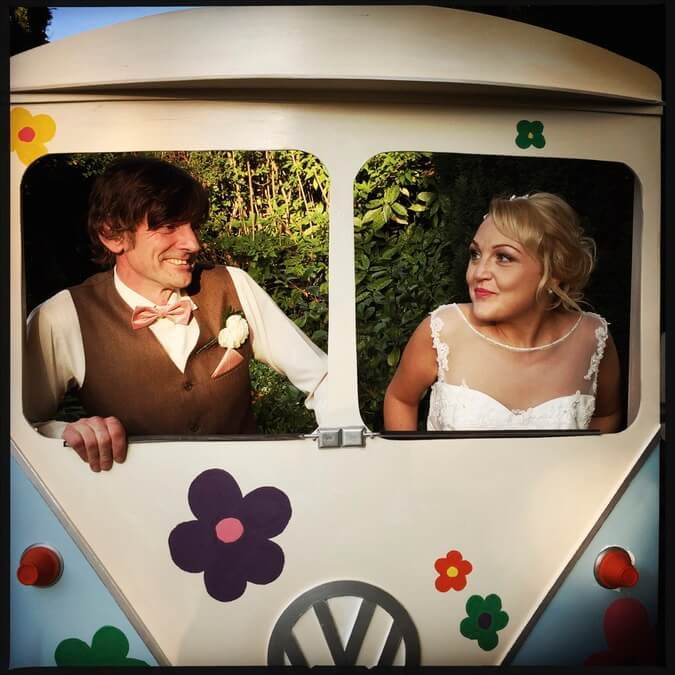 Lyndsay & Marcus Camper Van Props at there Wedding Day