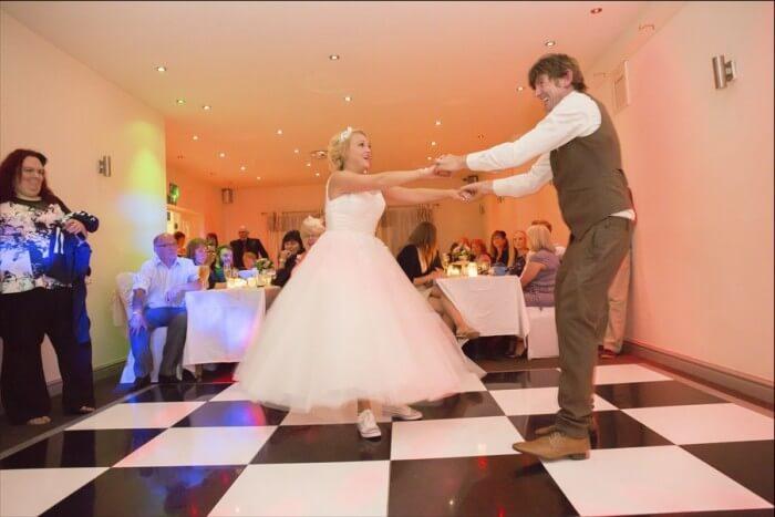 Retro Dance floor Scene with the Married Couple