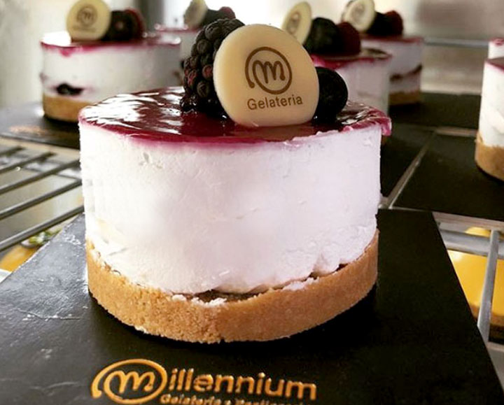 Gelateria Millennium a Roma Prati - Cheesecake ai frutti di bosco