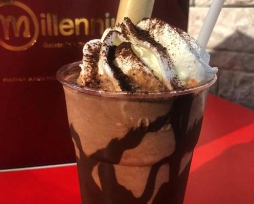 Milkshake alla nutella - Gelateria Millennium a Roma Prati