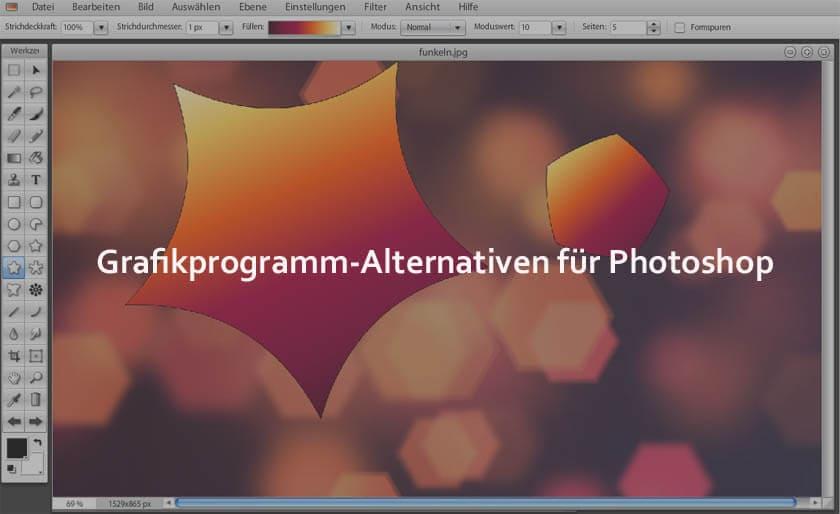 Alternative zu Photoshop 9 kostenlose Grafikprogramme