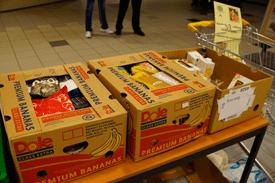Vrijwilligers bij de Voedselbank in Geldrop