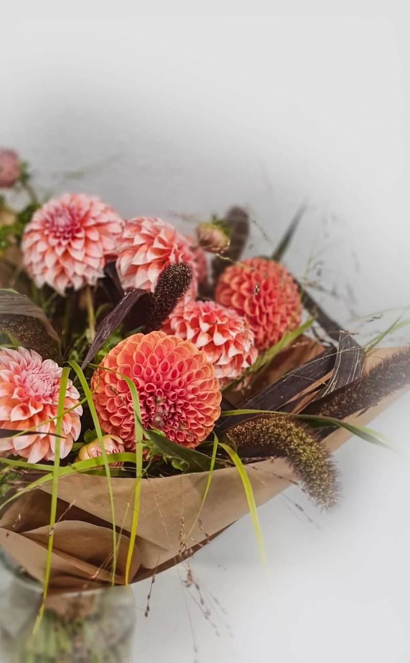 Gėlių puokštė Linksmieji jurginai